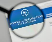米兰,意大利- 2017年11月1日:Power Corp 在t的加拿大商标 免版税图库摄影