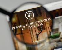 米兰,意大利- 2017年11月1日:Power Corp 在t的加拿大商标 免版税库存照片