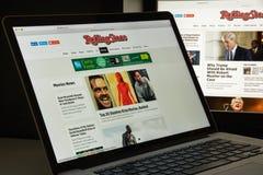 米兰,意大利- 2017年8月10日:Rollingstone网站主页 我 免版税图库摄影