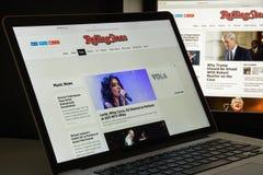 米兰,意大利- 2017年8月10日:Rollingstone网站主页 我 库存照片