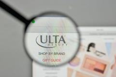 米兰,意大利- 2017年11月1日:Ulta在网站上的秀丽商标 免版税库存图片