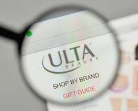 米兰,意大利- 2017年11月1日:Ulta在网站上的秀丽商标 图库摄影