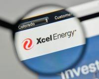 米兰,意大利- 2017年11月1日:Xcel在网站上的能量商标 库存图片