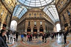 米兰,意大利-广场中央寺院-圆顶场所 免版税库存图片