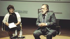 米兰,意大利26 10 2015年 弗朗西斯福特Copolla在商展米兰期间的媒介会议2015年 图库摄影