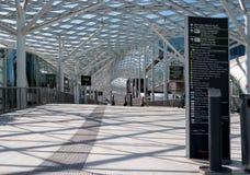 米兰,意大利- 2016年5月24日:Fiera米兰希腊字母的第17字是一个重要国际贸易市场和会议关于可视通信 免版税库存照片