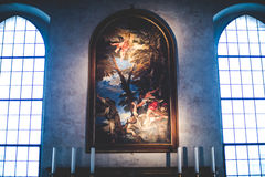 米兰,意大利- 12月10,2015 :教会圣洁玛丽雍容(圣玛丽亚delle Grazie),米兰 库存图片