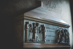 米兰,意大利- 12月10,2015 :教会圣洁玛丽雍容(圣玛丽亚delle Grazie),米兰 免版税库存照片
