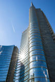 米兰,意大利- 5月18 2014年:Unicredit塔 免版税库存图片