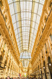 米兰,意大利- 13-05-2017 :圆顶场所维托里奥Emanuele II在米拉 库存照片