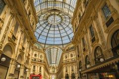 米兰,意大利- 13-05-2017 :圆顶场所维托里奥Emanuele II在米拉 图库摄影