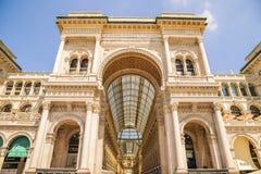 米兰,意大利- 13-05-2017 :圆顶场所维托里奥Emanuele II在米拉 库存图片