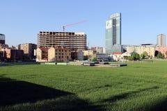 米兰,米兰新的城市地平线 免版税图库摄影