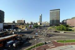 米兰,米兰新的城市地平线 库存图片