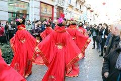 米兰,米兰,中国新的year'eve 免版税图库摄影
