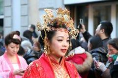 米兰,米兰,中国新的year'eve 图库摄影