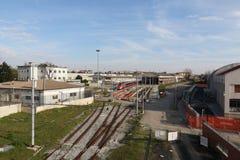 米兰,米兰staten铁路 库存图片