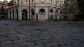 米兰, Cairoli Castello, S 乔凡尼sul穆罗角街道, 2017年9月5日- Dal Verme剧院 股票录像