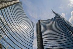 米兰, ITALY-MAY 13日2017年:全景新未来派 免版税库存图片
