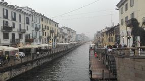 米兰, Naviglio 免版税库存图片