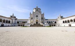 米兰(伦巴第,意大利) :Cimitero Monumentale 免版税图库摄影