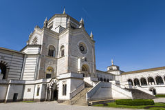 米兰(伦巴第,意大利) :Cimitero Monumentale 免版税库存照片