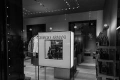 米兰- 2016年10月9日:乔治・阿玛尼商店在米兰 库存照片
