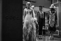 米兰- 2016年10月9日:古驰商店在米兰 图库摄影