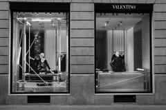 米兰- 2016年10月9日:瓦伦蒂诺商店在米兰 库存图片