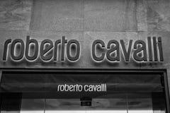 米兰- 2016年10月9日:罗伯特卡瓦利商店在米兰 库存图片