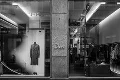 米兰- 2016年10月9日:Dior商店在米兰 免版税库存图片