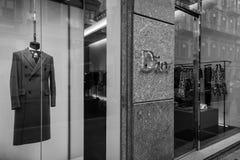 米兰- 2016年10月9日:Dior商店在米兰 免版税库存照片