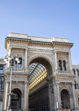 米兰维托里奥Emanuele画廊  免版税库存图片