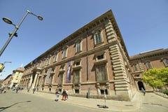 米兰Brera美术画廊宫殿 库存图片