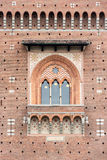 米兰Sforza城堡主要门面  免版税图库摄影