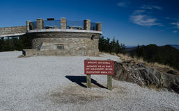 米切尔峰观测塔 图库摄影