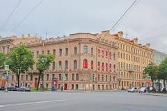 米勒的豪宅在圣彼得堡,俄罗斯 免版税库存图片