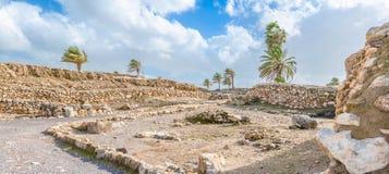 米吉多废墟 免版税库存照片