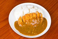 米和咖喱 库存照片