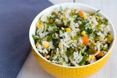 米和菜沙拉 免版税库存照片