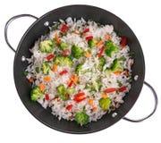 米和蔬菜 免版税库存图片