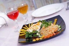 米和鱼 免版税库存图片