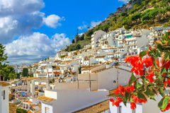 米哈斯白色村庄  太阳海岸,安大路西亚,西班牙 免版税库存照片