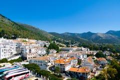 米哈斯镇在西班牙 免版税库存图片