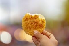 米土著人民烤食物  免版税库存图片