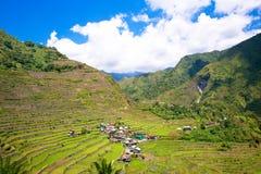 米大阳台在菲律宾 村庄在谷amo 库存图片