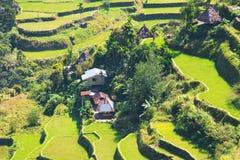 米大阳台在菲律宾 村庄在谷amo 免版税库存图片