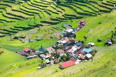 米大阳台在菲律宾 村庄在谷amo 免版税图库摄影