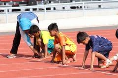 100米奔跑 免版税图库摄影