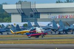 米尔米-17熟悉内情的直升机 库存照片